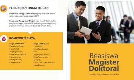 Sekilas Beasiswa Magister dan Doktor LPDP