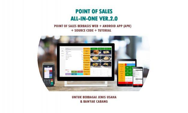 Aplikasi Kasir ver.2.0 Berbasis Web Lengkap & App Android