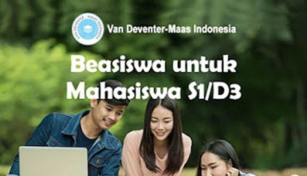 Beasiswa D3 dan S1 Yayasan Van Deventer-Maas Indonesia