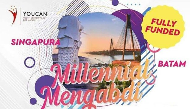 "Beasiswa Pelatihan YOUCAN (Youth Center to Act for Nations) ""Milenial Mengabdi"" di Batam dan Singapura 2020"