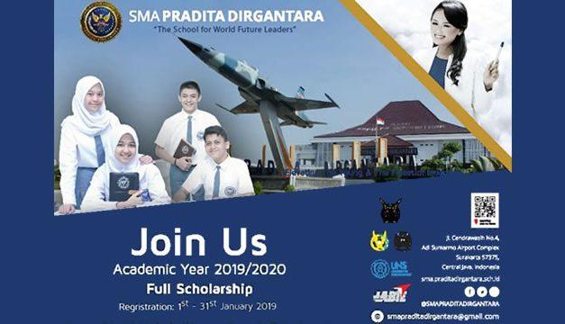 Beasiswa SMA Pradita Dirgantara TNI AU 2020 (Beasiswa Penuh)